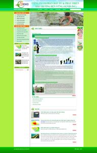 Thiết kế website Môi trường Sennid