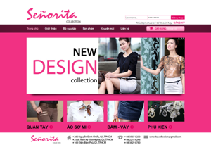 Thiết kế website Thời Trang senorita