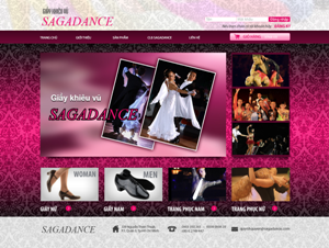 Thiết kế website Giày nhảy SaiGon Dance