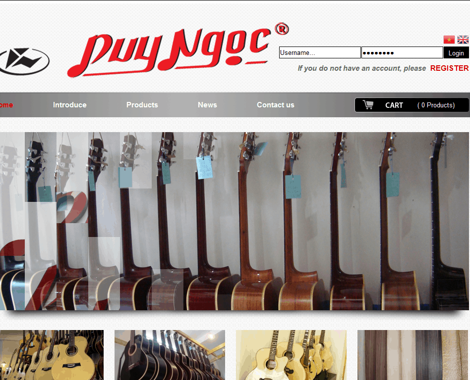 Thiết kế website Guitar Duy Ngọc