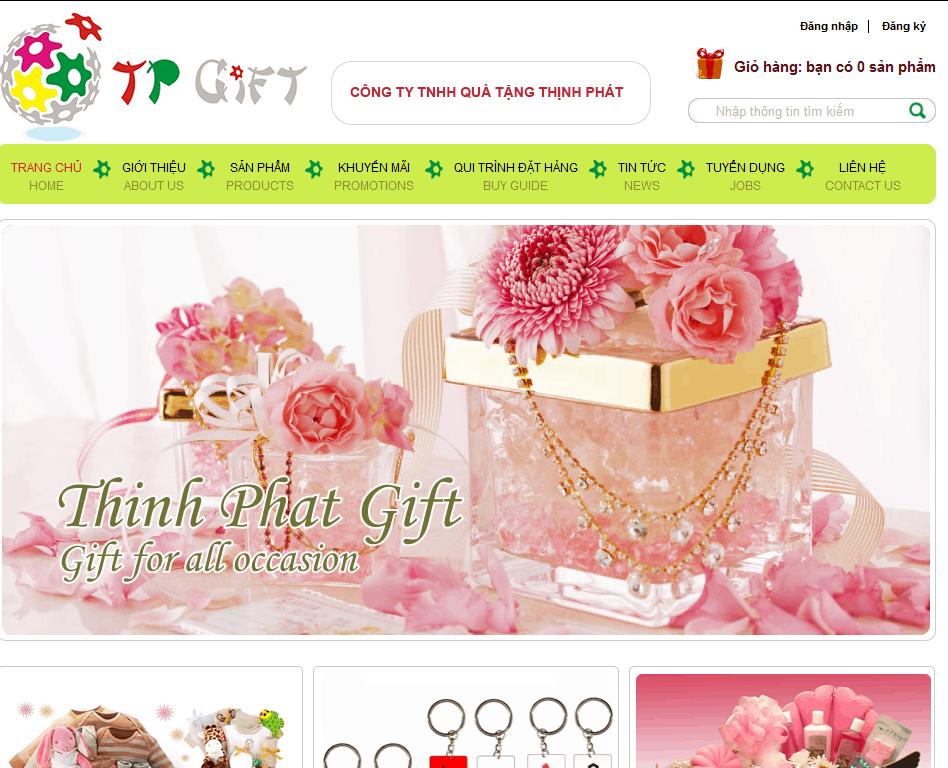Thiết kế website Quà Tặng Thịnh Phát