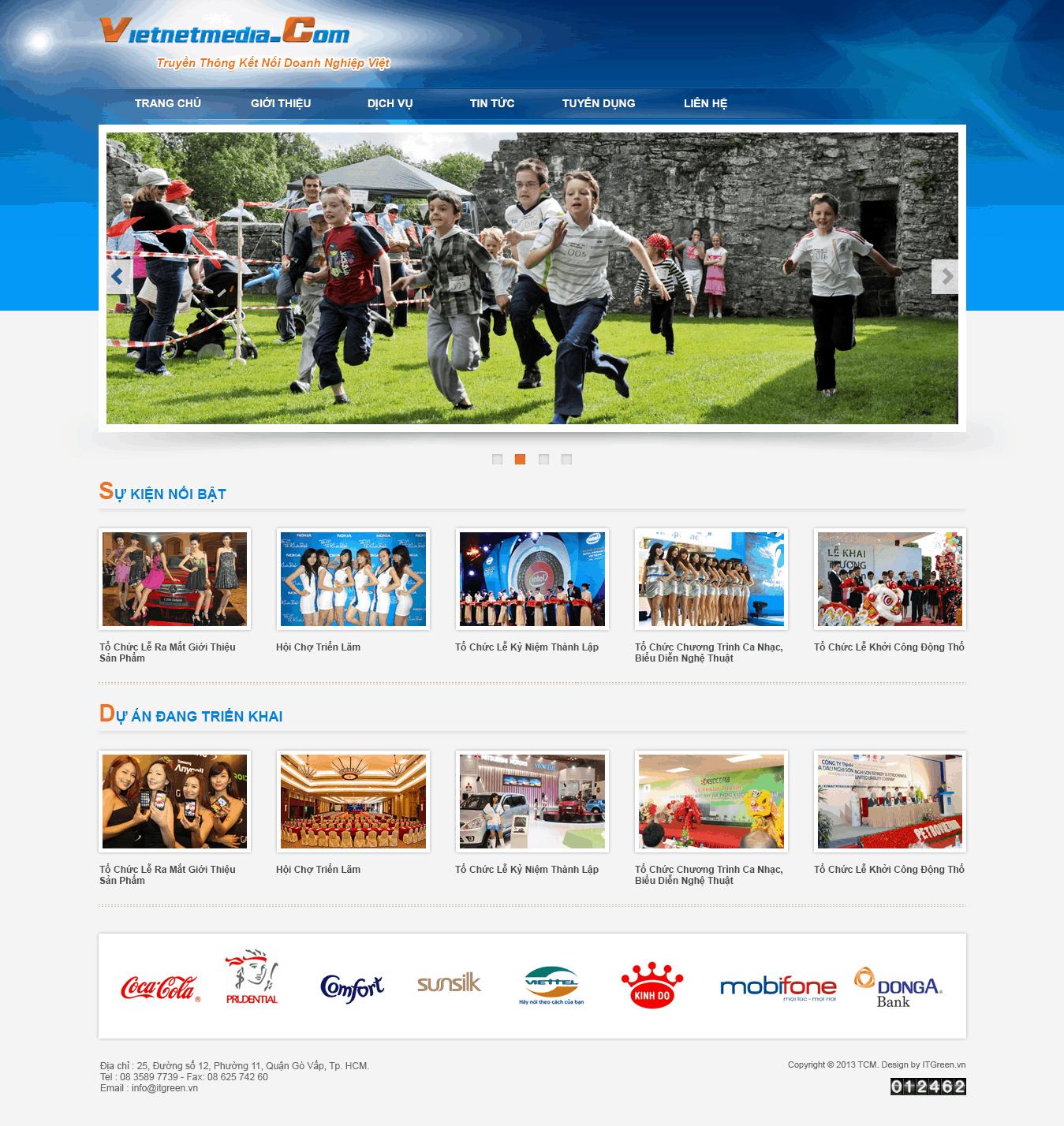 Thiết kế website Công ty giải trí truyền thông