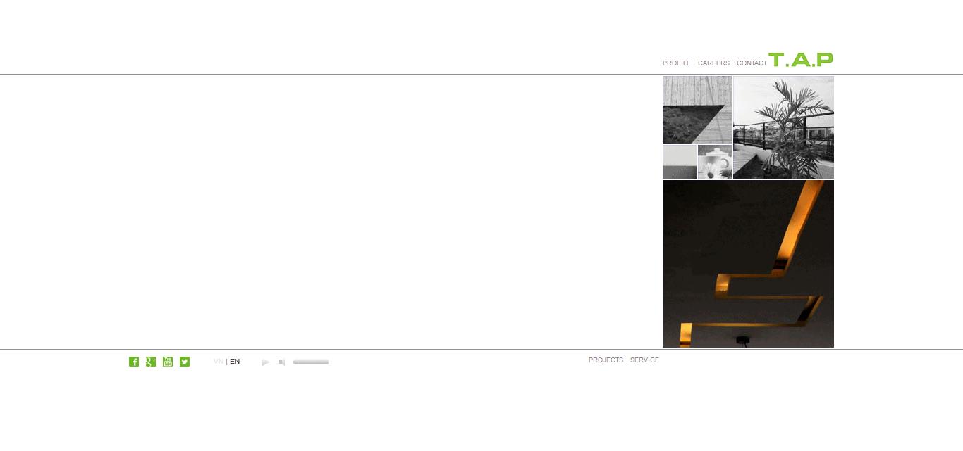Thiết kế website Công ty xây dựng Tab