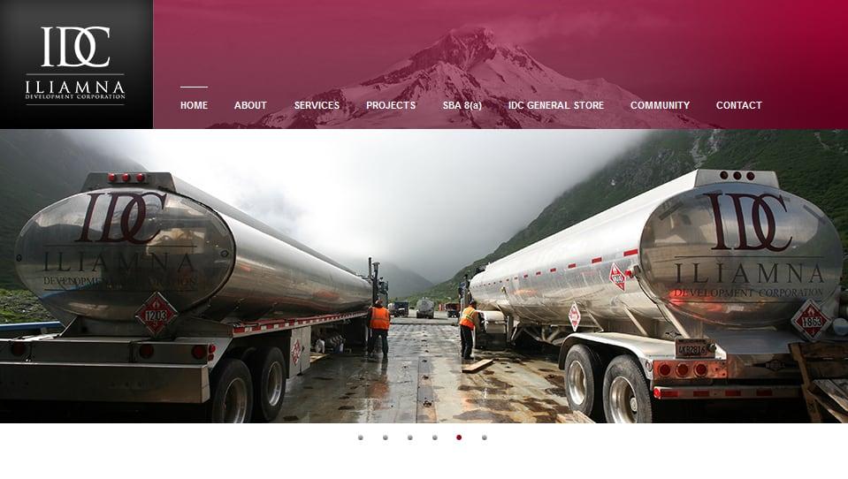 Thiết kế website Công ty dịch vụ xe tải IDC