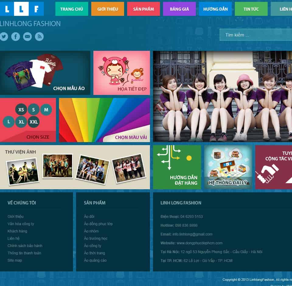 Thiết kế website Áo thun đẹp, áo lớp đẹp
