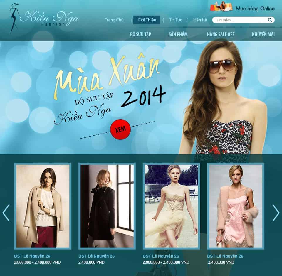 Thiết kế website Thời trang Kiều Nga