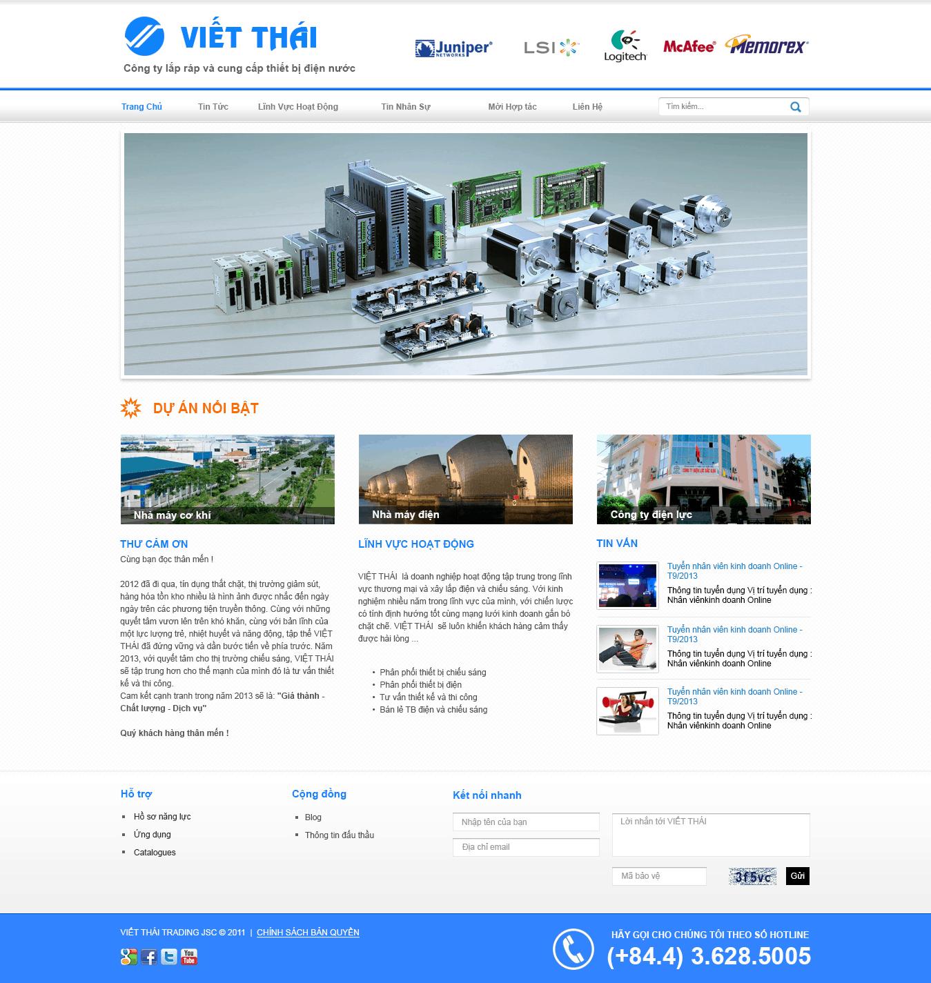 Thiết kế website Xây dựng Viết Thái