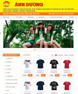 Thiết kế website Áo lớp áo thun