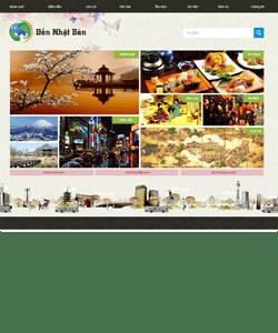 Thiết kế website Du lịch đến nhật bản