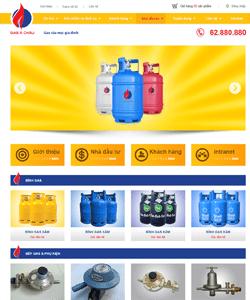 Thiết kế website Công ty Ga Á Châu