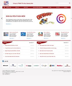 Thiết kế website Thiết bị điện tử Quang Hân