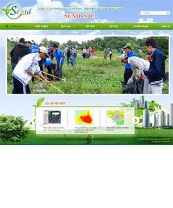 Thiết kế website Công ty môi trường Sennid
