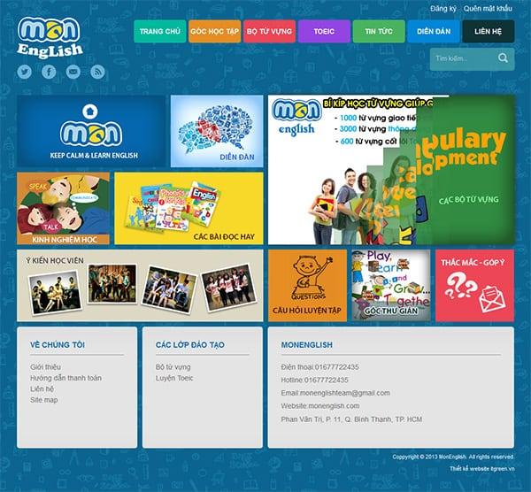 Thiết kế website MonEnglish