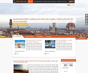 Thiết kế website Du lịch sông quê