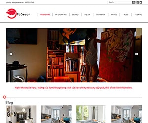 Thiết kế website Todecor