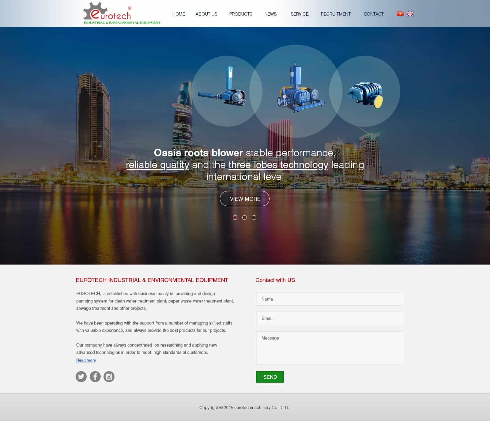 Thiết kế website Euro Tech