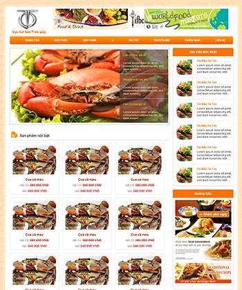 Thiết kế website Website Bán Cua