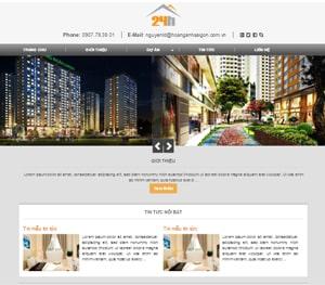 Thiết kế website Căn hộ 24h