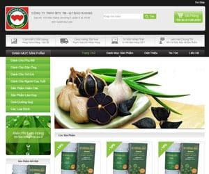 Thiết kế website Bảo khang