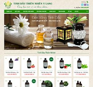 Thiết kế website Tinh dầu Y Lang