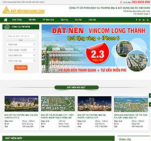 Thiết kế website Đất nền Kim Oanh