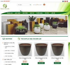 Thiết kế website Chăm sóc cây cảnh