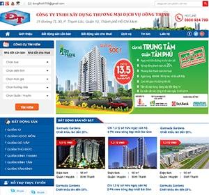Thiết kế website Bất động Sản Đồng Thịnh