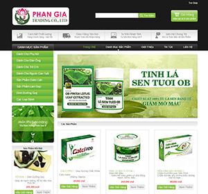 Thiết kế website Dược Phan Gia