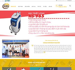 Thiết kế website Spa Hanakbn