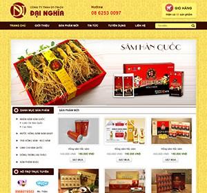 Thiết kế website Sâm Đại Nghĩa