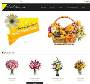 Thiết kế website Website bán hoa tươi Thái Bình Flower