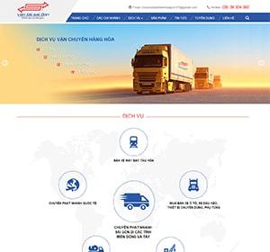Thiết kế website Vận tải Sài Gòn