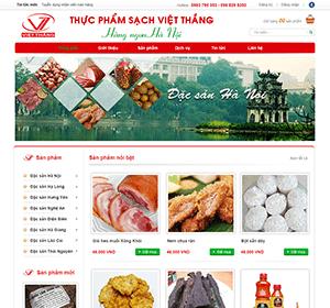 Thiết kế website Thực phẩm sạch Việt Thắng