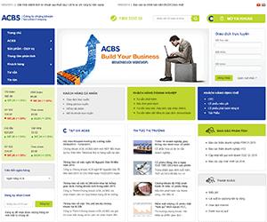 Thiết kế website Website ACB