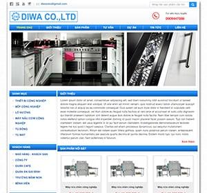 Thiết kế website Máy rửa chén, máy công nghiệp Diwa