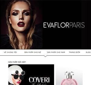 Thiết kế website Bán nước hoa, mỹ phẩm Eva