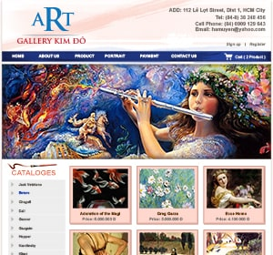 Thiết kế website Phòng tranh Kim Đô