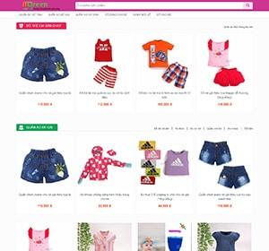 Thiết kế website Quần áo trẻ em
