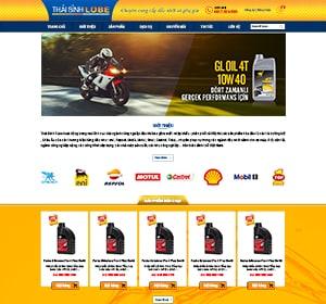 Thiết kế website DẦU NHỚT VÀ PHỤ GIA