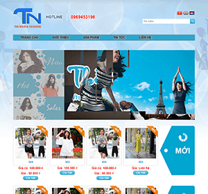 Thiết kế website Thời trang tín nghĩa
