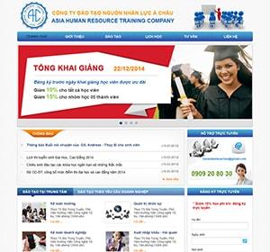 Thiết kế website đào tạo kế toán, đào tạo kinh tế
