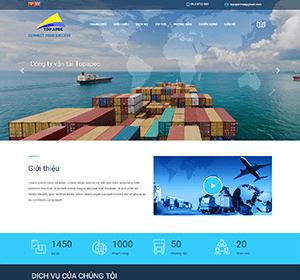 Thiết kế website Công ty vận tải - Công ty Logistics