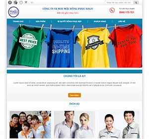 Thiết kế website Thời trang áo thun , áo lớp , đồng phục