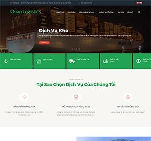 Thiết kế website OTRAN LOGISTICS , Vận Tải LOGISTICS