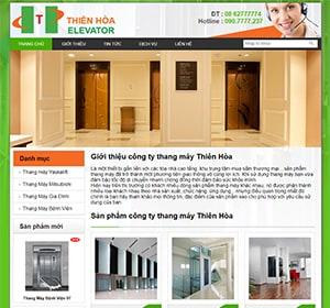 Thiết kế website công ty thang máy, làm thang máy