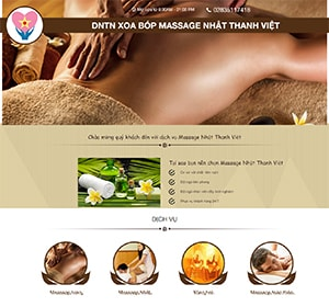 Thiết kế website Massage Nhật Thanh Việt