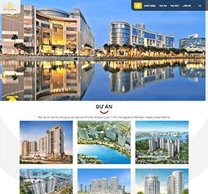 Thiết kế website Bất động sản Phú Mỹ Hưng, website công ty bất động sản