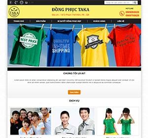 Thiết kế website Thời trang Taka, Đồng phục đẹp