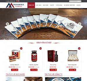 Thiết kế website Website bán thuốc, website thực phẩm chức năng