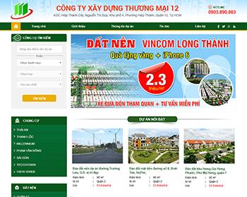 Thiết kế website Bất động sản quân 12